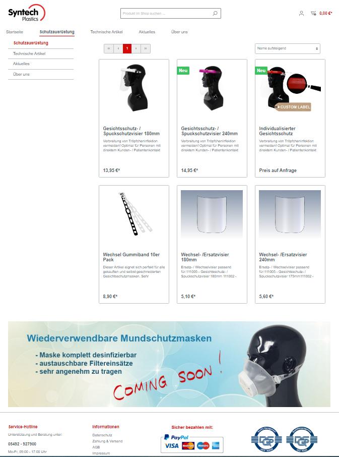 Onlineshop Syntech Plastics